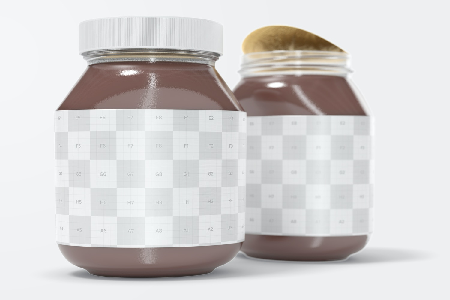 You can edit easily the jar label and lid.