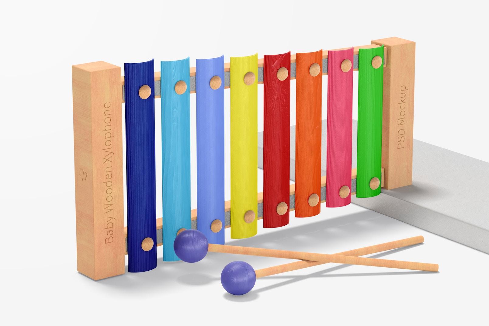 Baby Wooden Xylophone Mockup