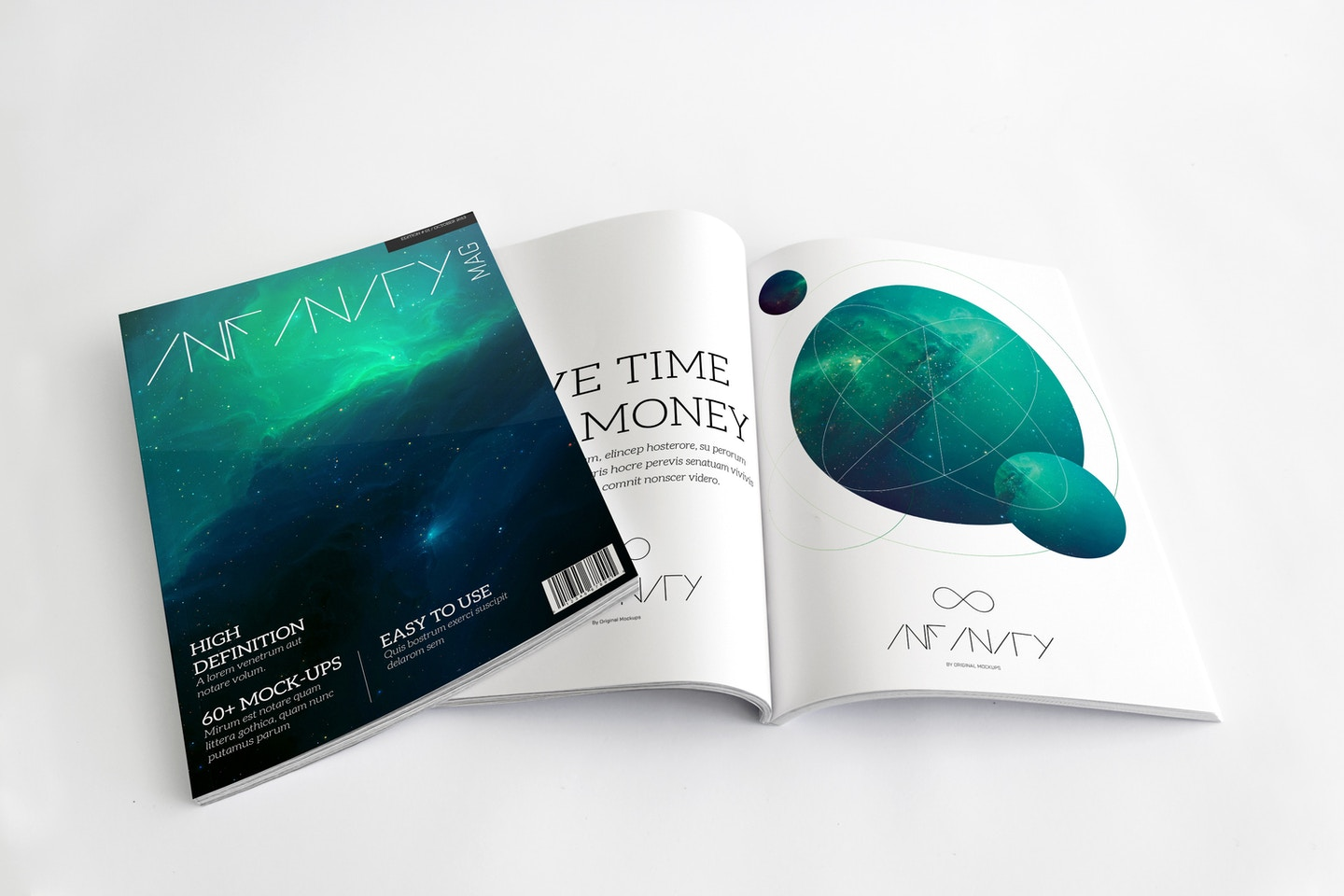 A4 Magazine Mockup for Cover & Spread Page 01