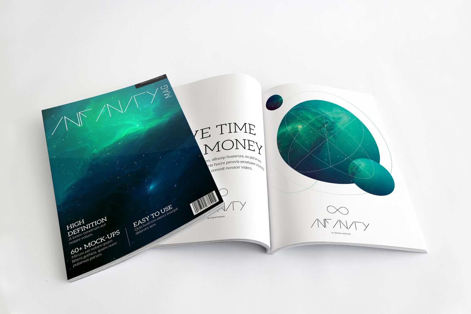 A4 Magazine Mockup for Cover & Spread Page 01 by Original Mockups on Original Mockups