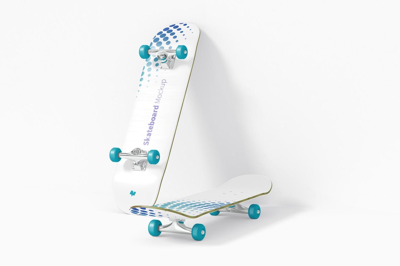 Skateboard Mockup, Perspective View