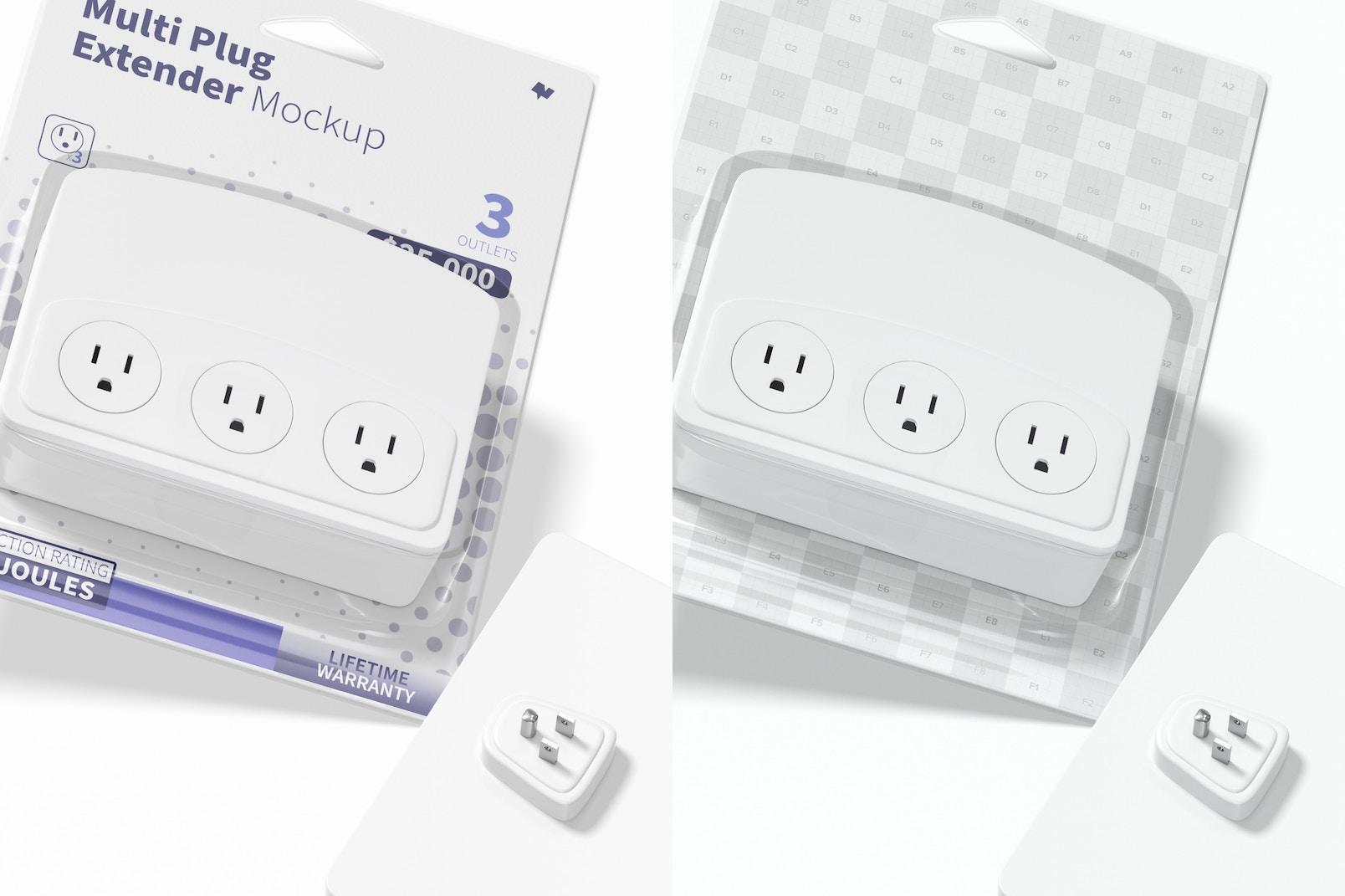Multi Plug Extender Mockup, Close Up