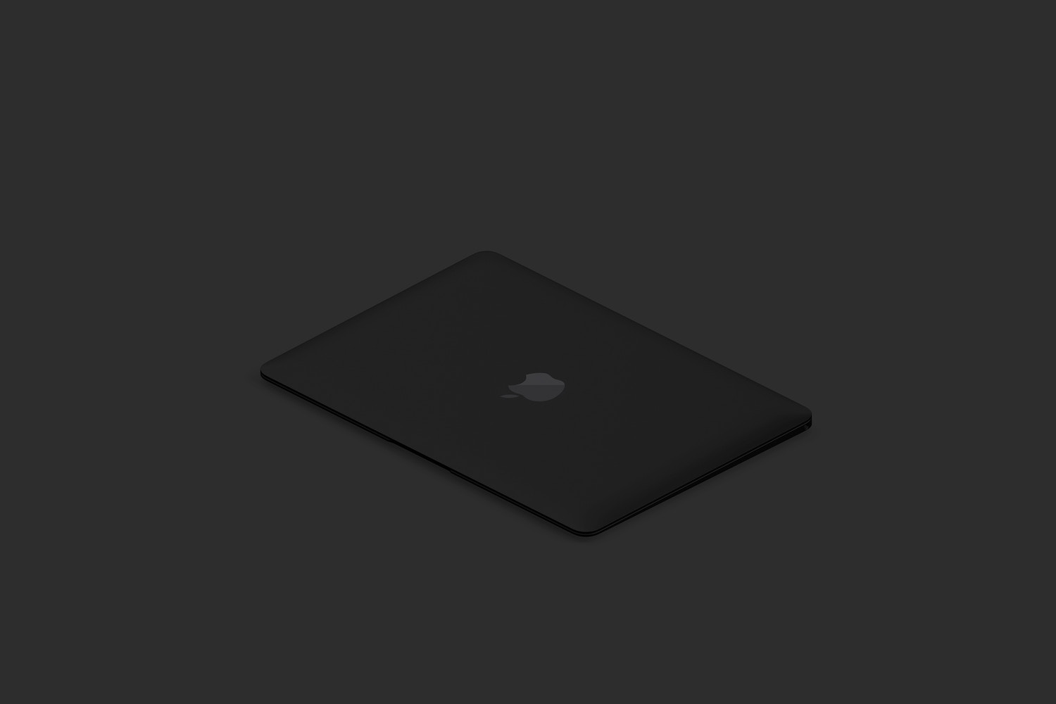 Clay MacBook Mockup, Isometric Left View 02 (5) by Original Mockups on Original Mockups