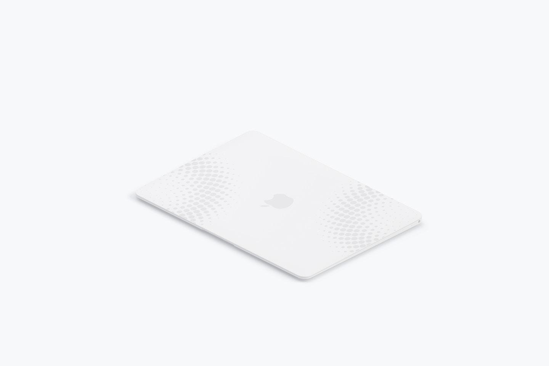 Clay MacBook Mockup, Isometric Left View 02