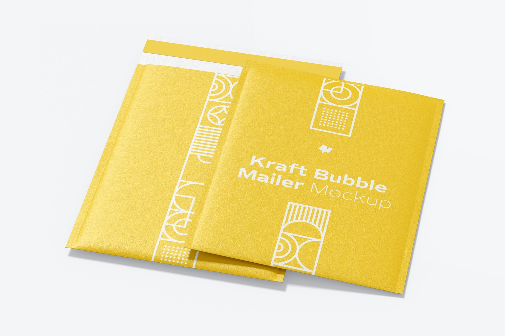 Kraft Bubble Mailers Mockup