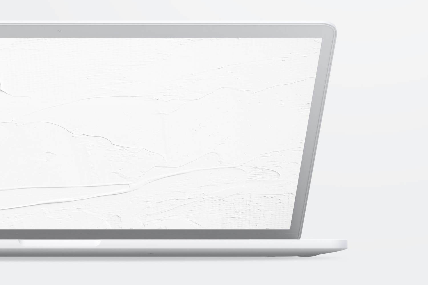 """Clay MacBook Pro 15"""" with Touch Bar, Front View Mockup 02"""