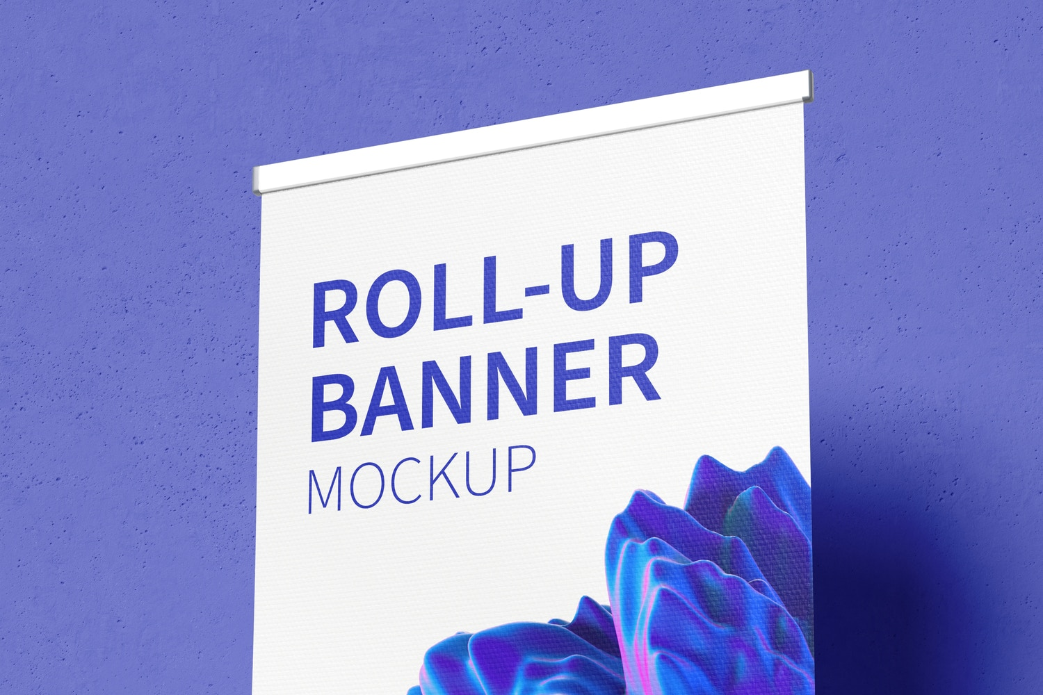 Standing Roll-Up Banner Mockup, Right View