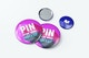 Pin Button Badges Mockup, Two Size