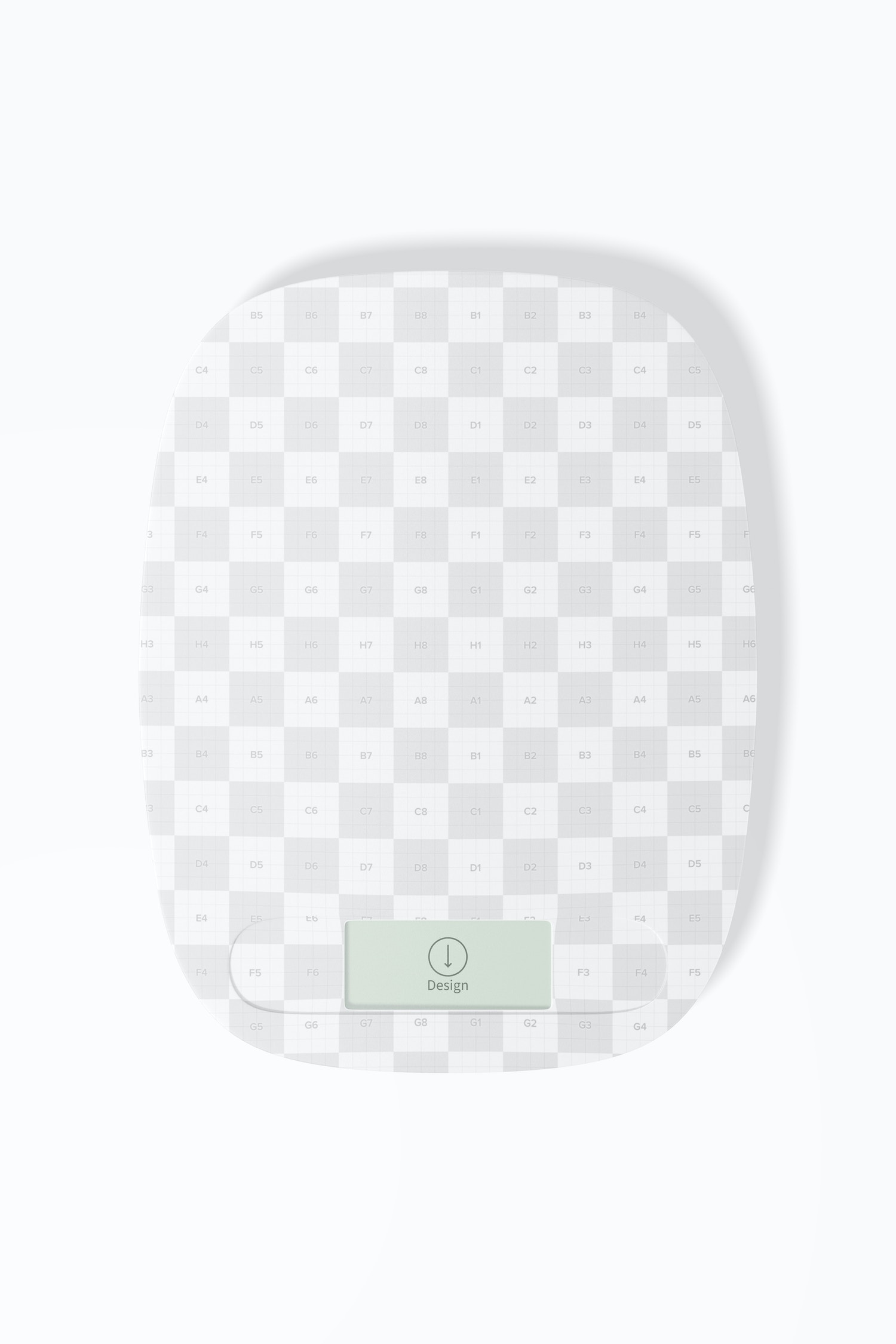 Digital Kitchen Scale Mockup, Top View