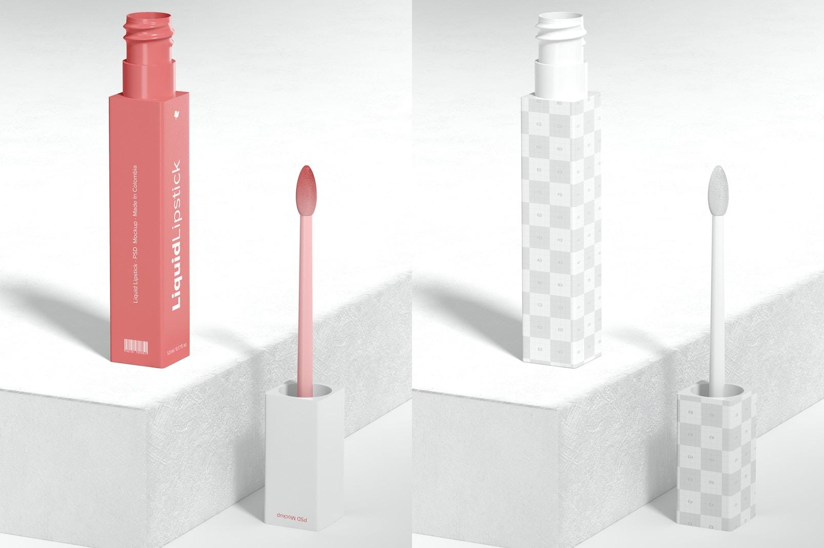Liquid Lipstick Tube Mockup