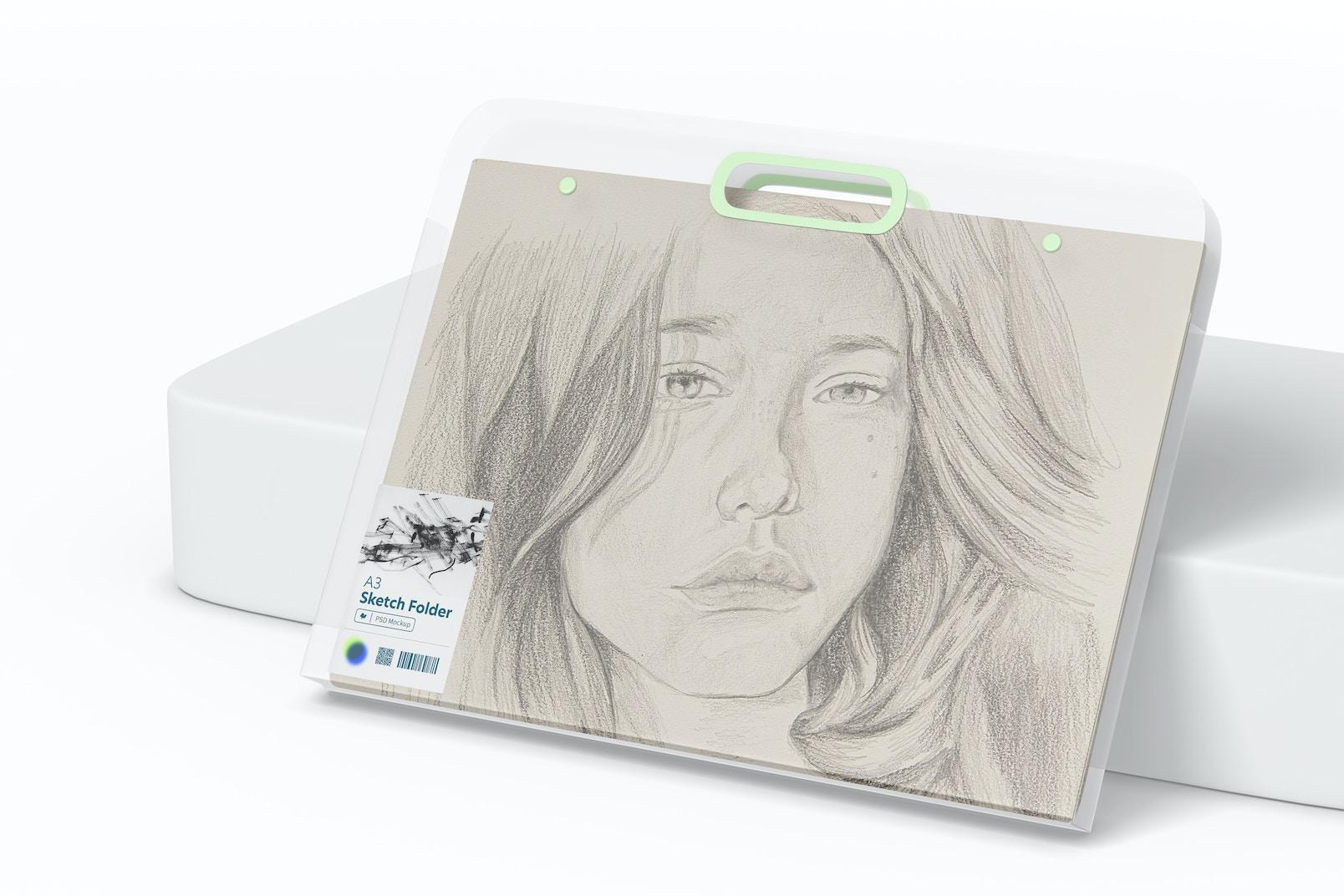 A3 Sketch Folder Mockup