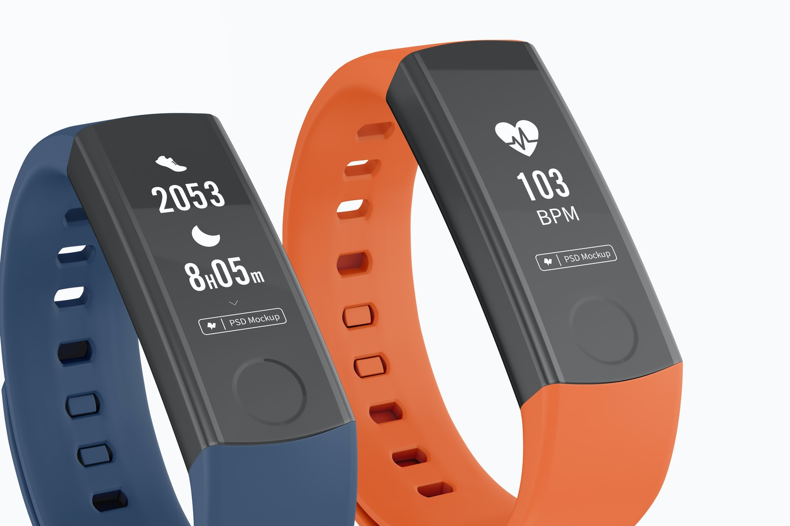 Huawei Fit Honor Band 3 Smart Watch Mockup, Close Up