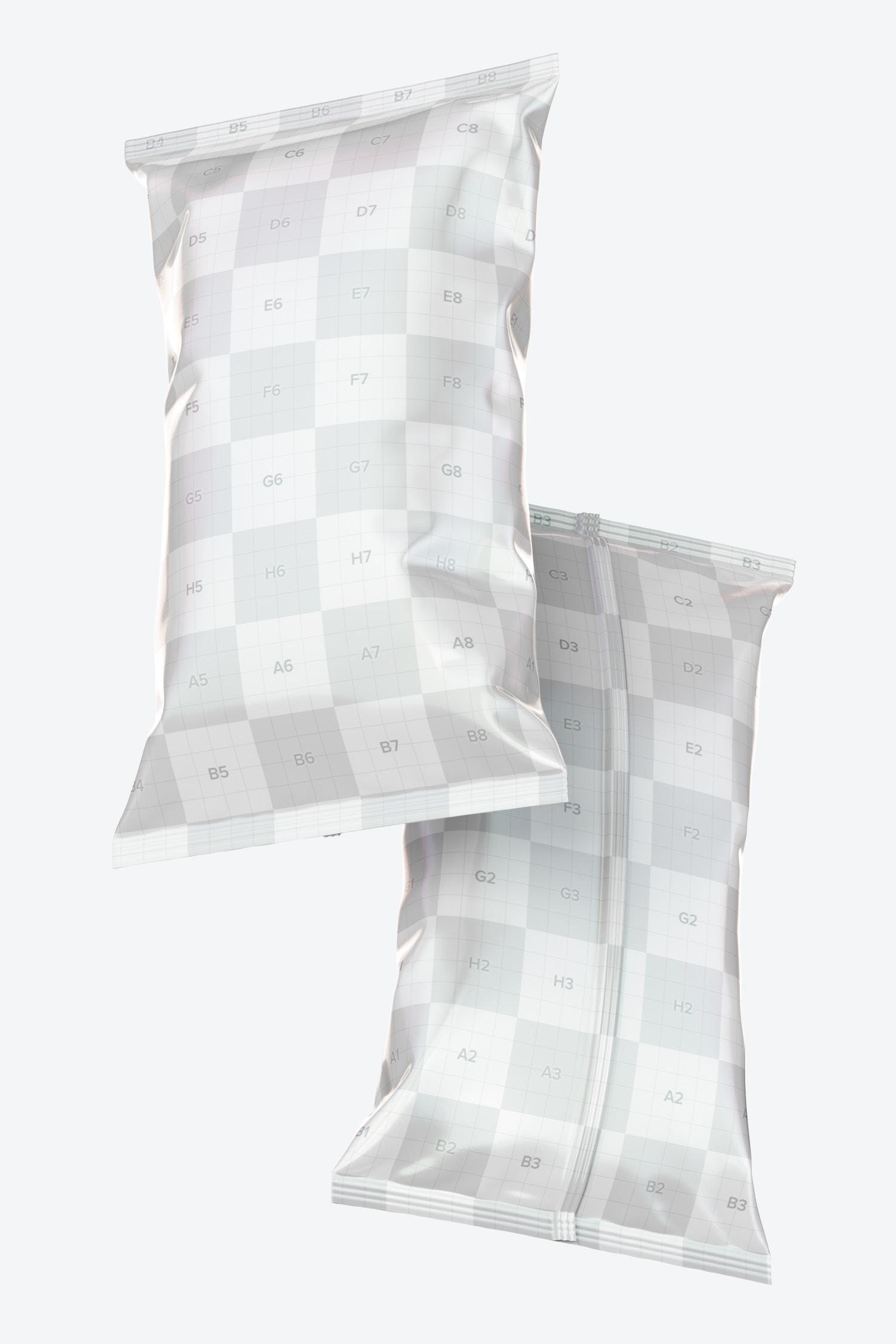 Glossy Sleek Chips Bags Mockup
