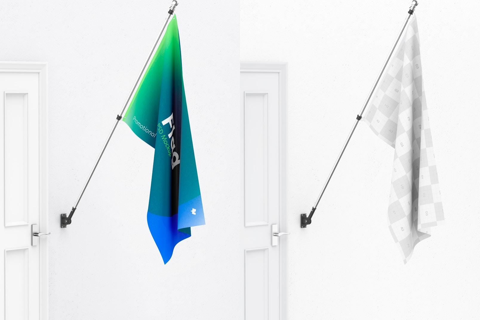 Flag Mockup, Left View