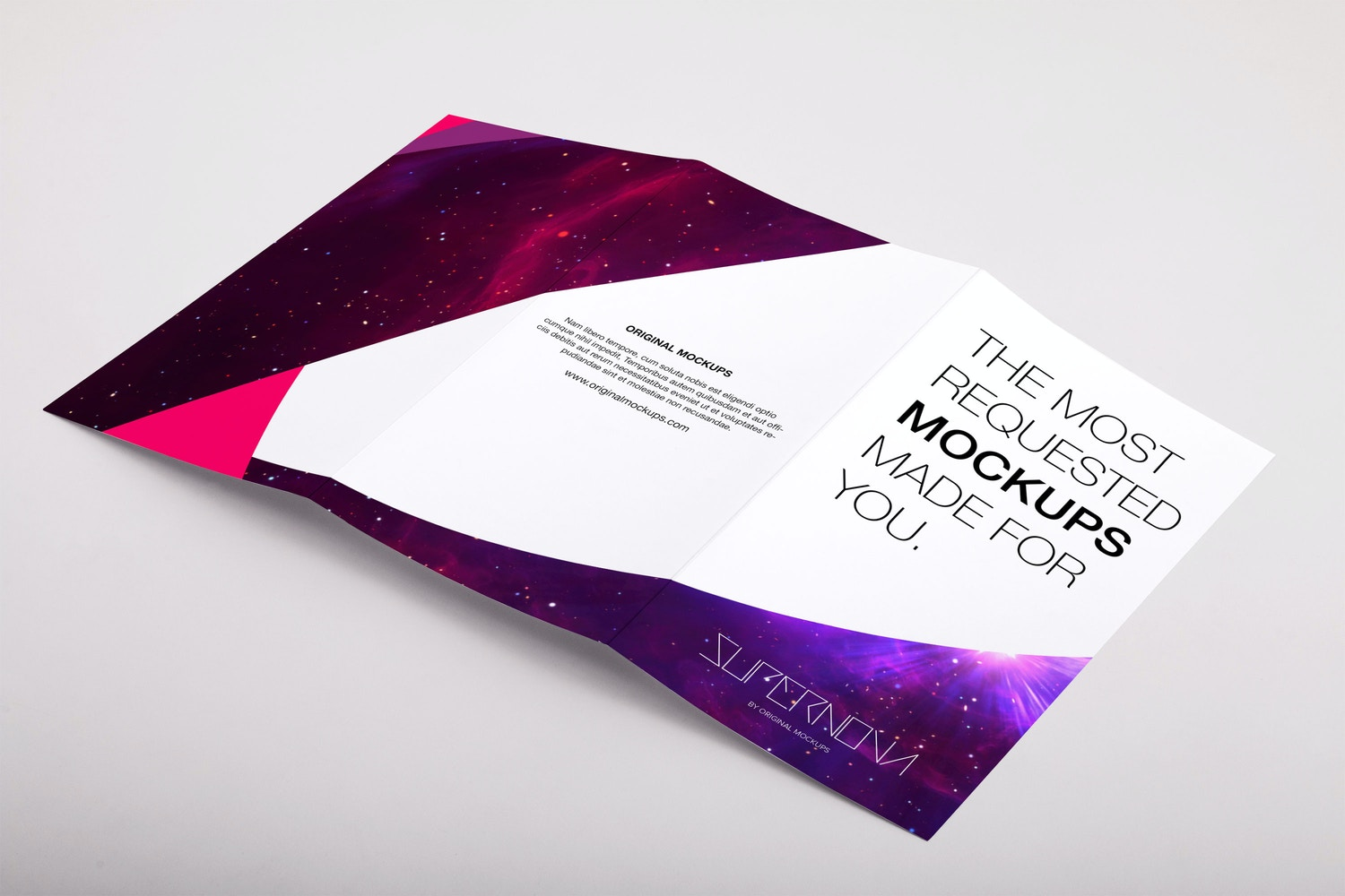 Legal Trifold Brochure PSD Mockup 04 by Original Mockups on Original Mockups