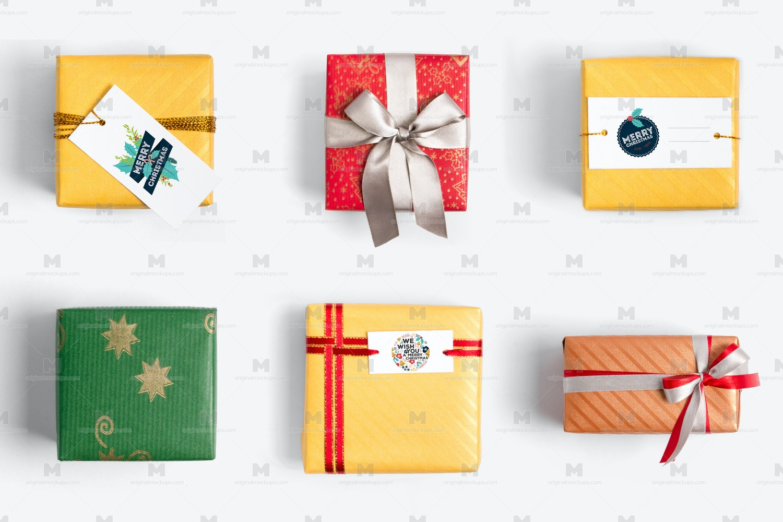Christmas Gift Boxes Isolate 03 por Original Mockups en Original Mockups