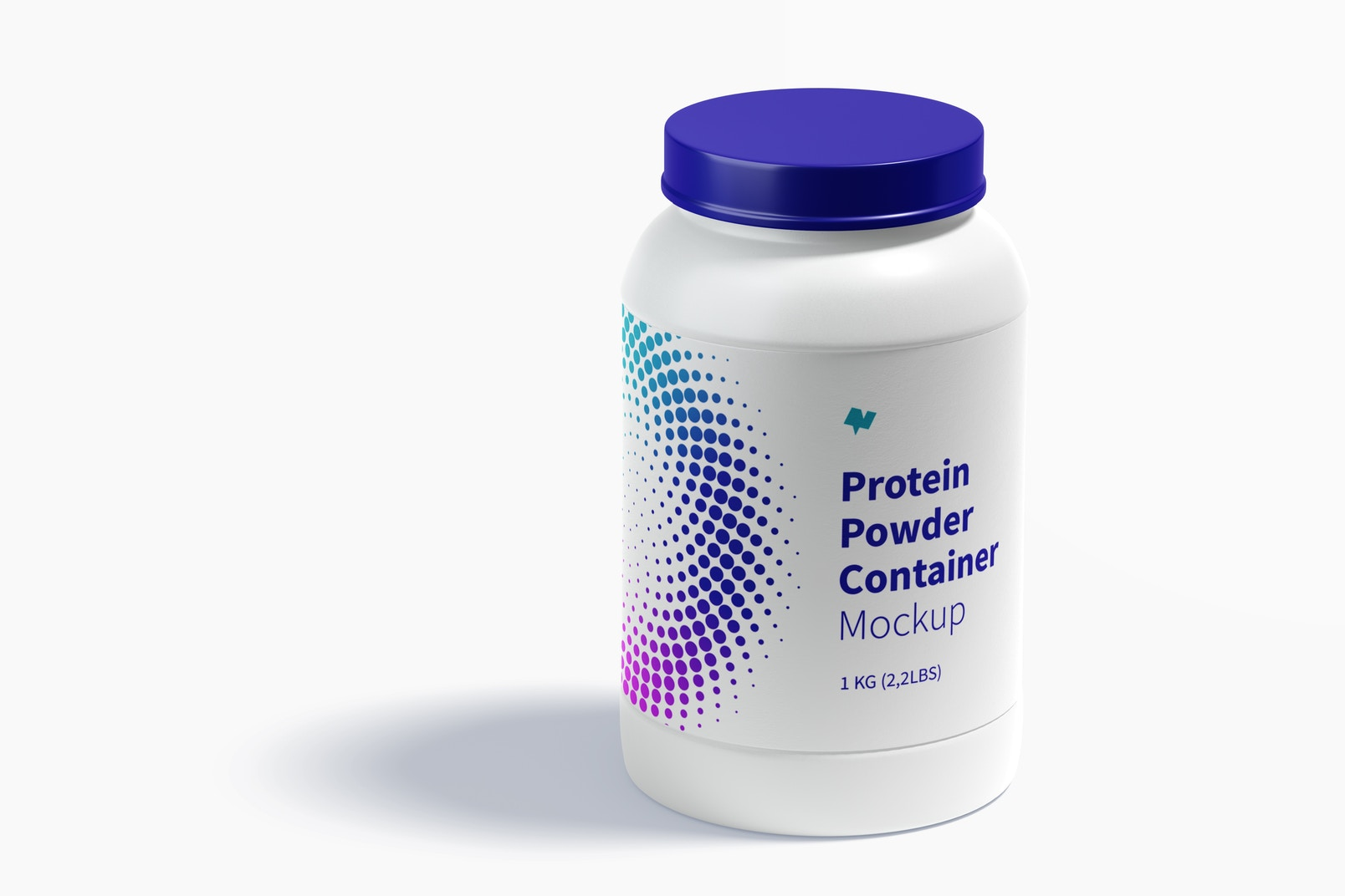 Protein Powder Container Mockup, Closed