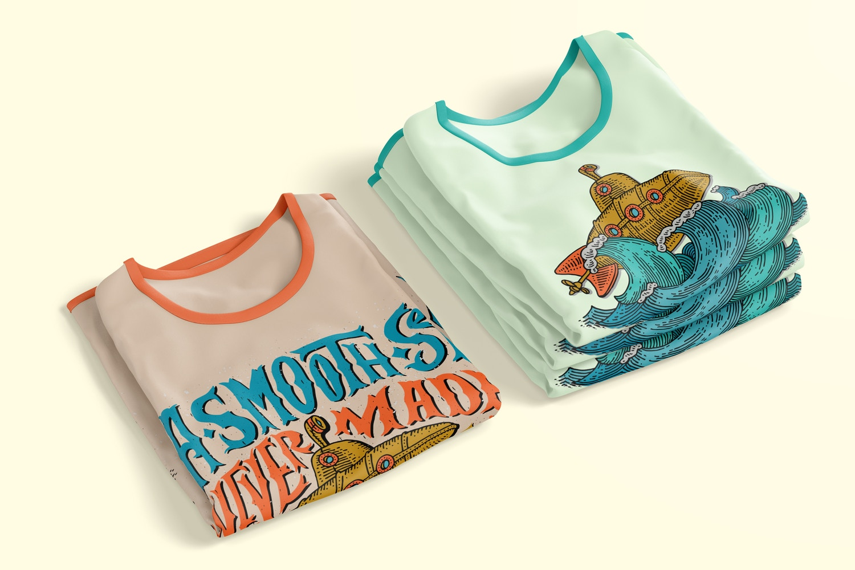 T-Shirts Mockup, Folded