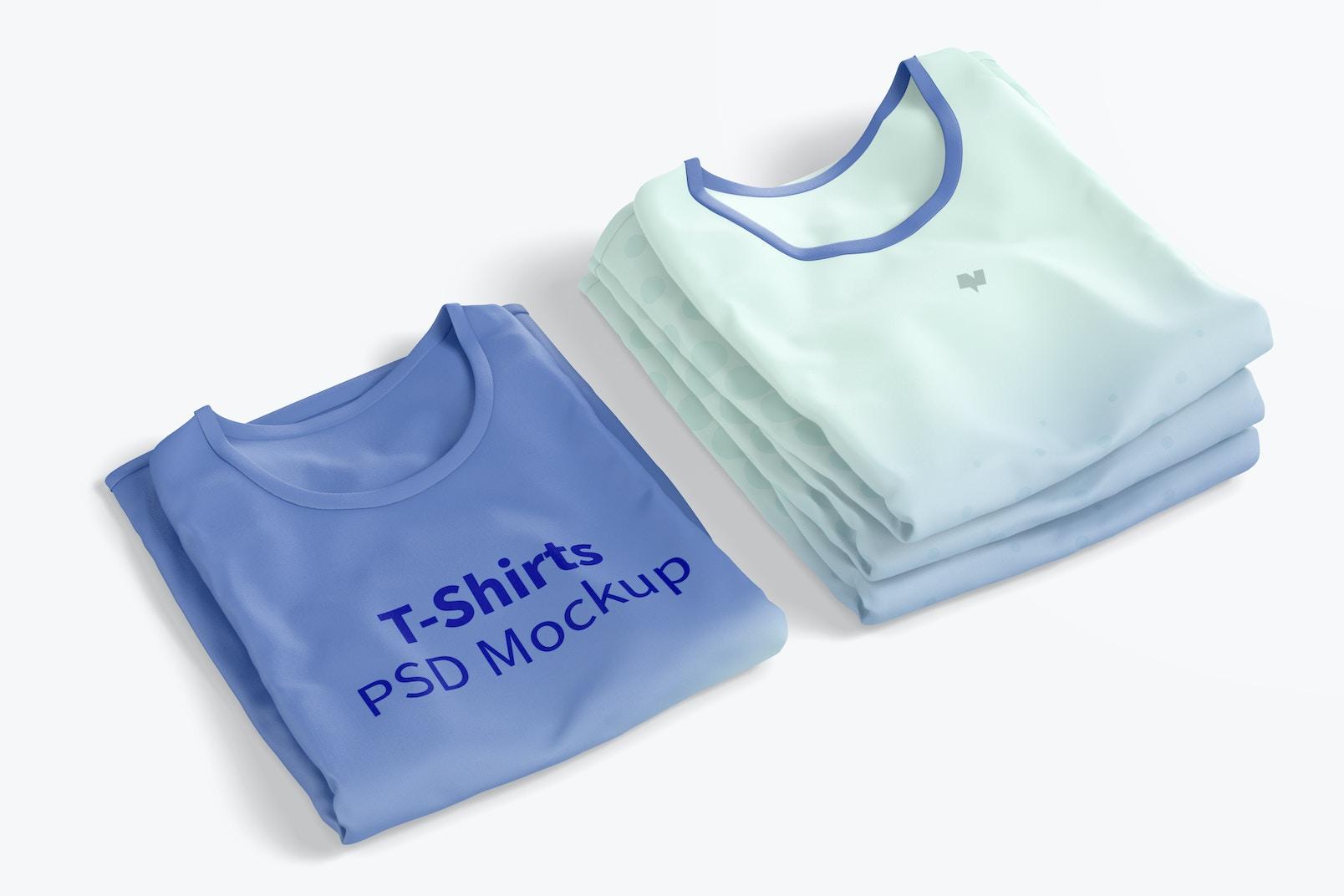 Maqueta de Camisetas, Dobladas