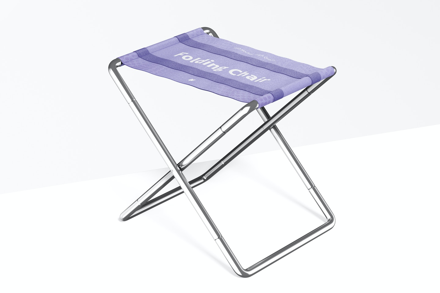 Folding Chair Mockup, Perspective