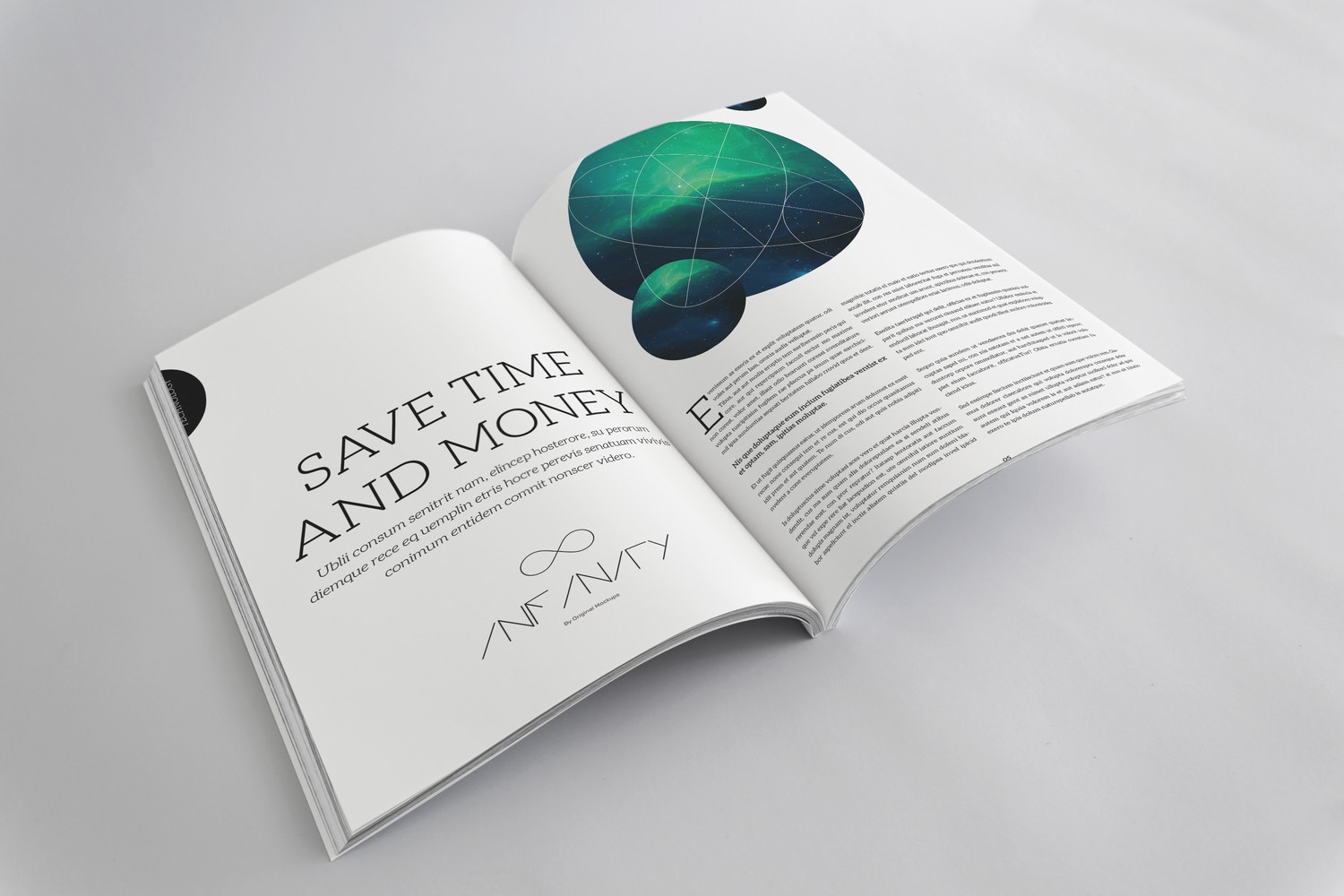 A4 Magazine Mockup for Spread Page by Original Mockups on Original Mockups