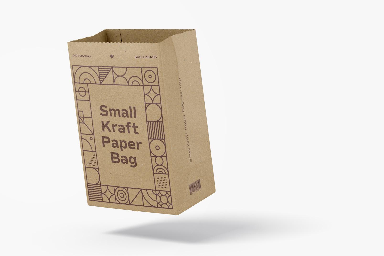Small Kraft Paper Bags Mockup