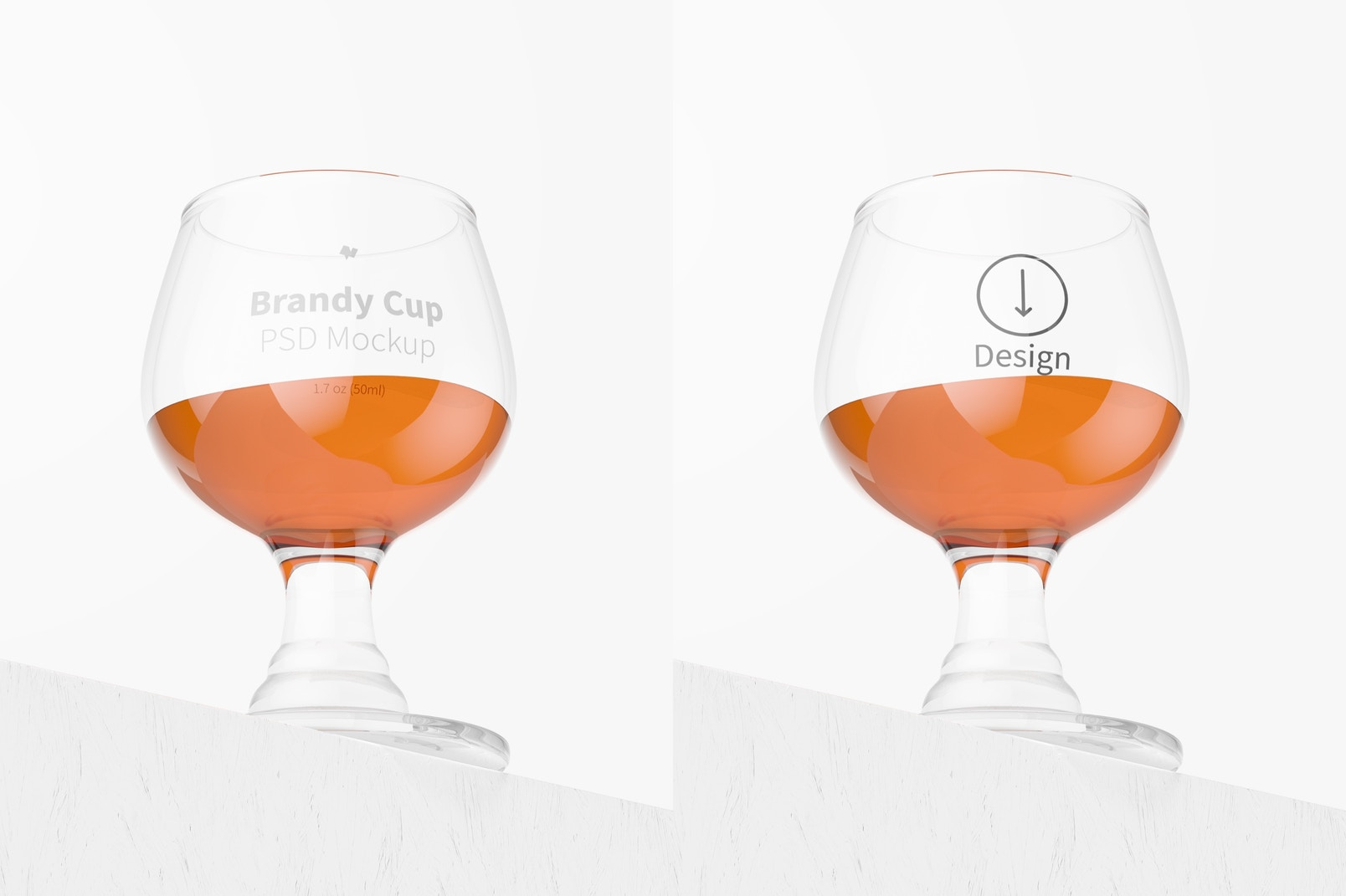 1.7 oz Glass Brandy Cup Mockup