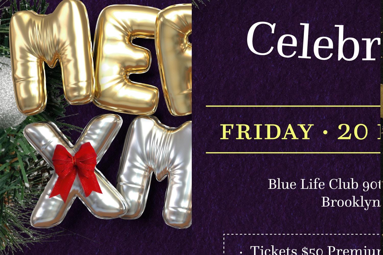 Balloon Party, Christmas Flyer Template 3