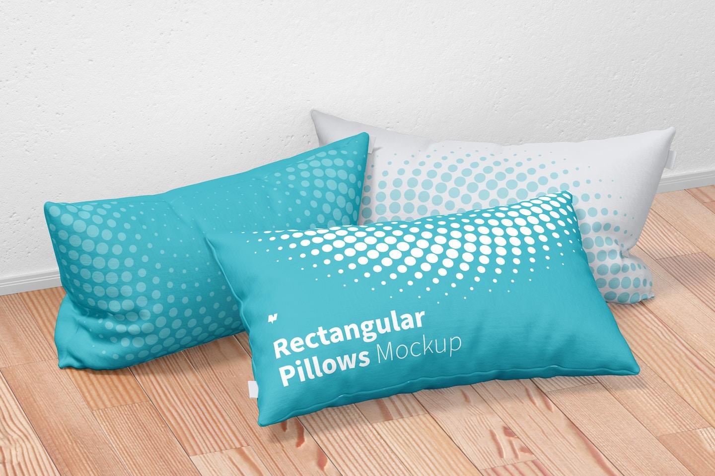 Rectangular Pillows Set Mockup