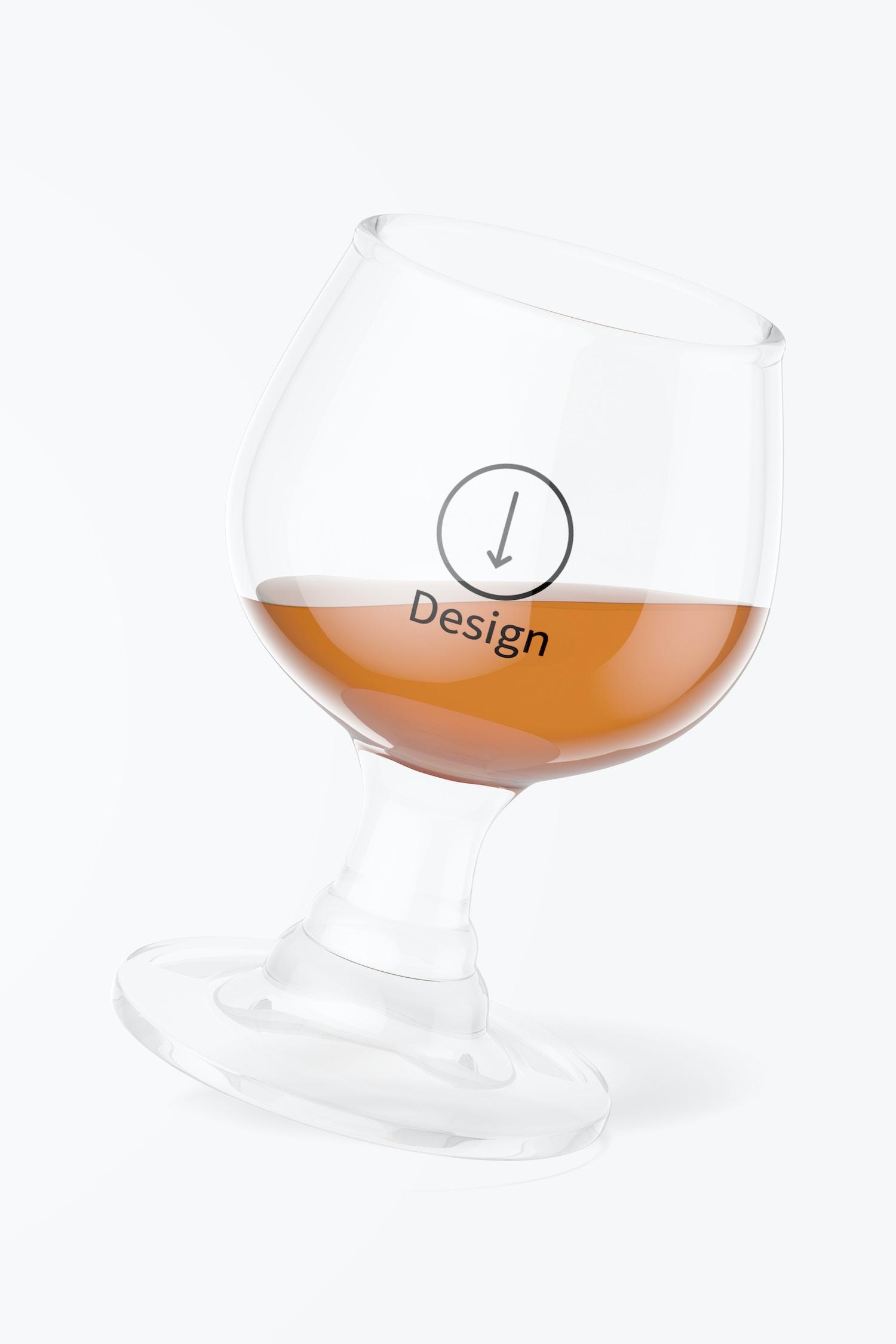1.7 oz Glass Brandy Cup Mockup, Floating