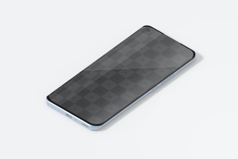 Isometric Xiaomi Smartphone Mockup, Left View