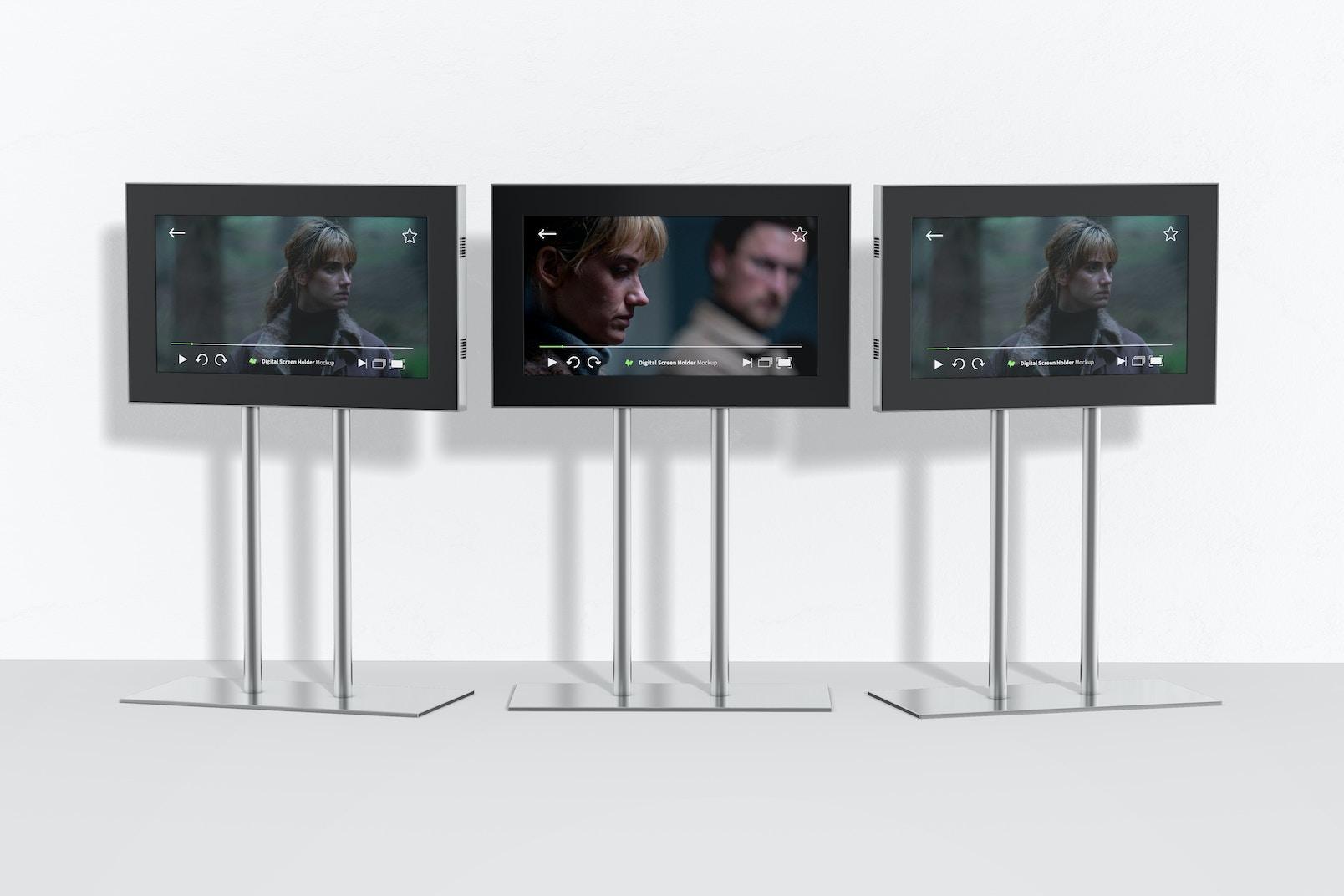 Digital Screen Holders  Mockup