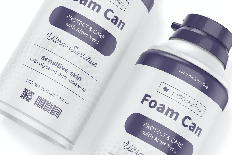 10.5 oz Foam Cans Mockup, Close Up