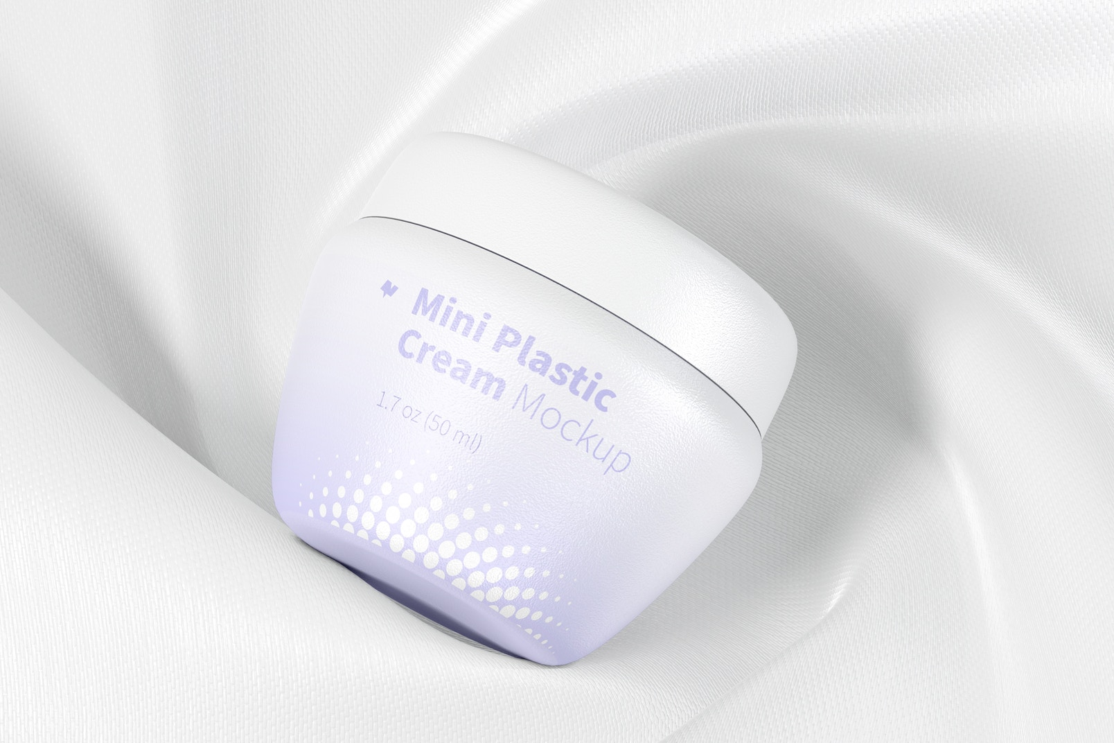 Mini Plastic Cream Jar with Lid Mockup, Top View