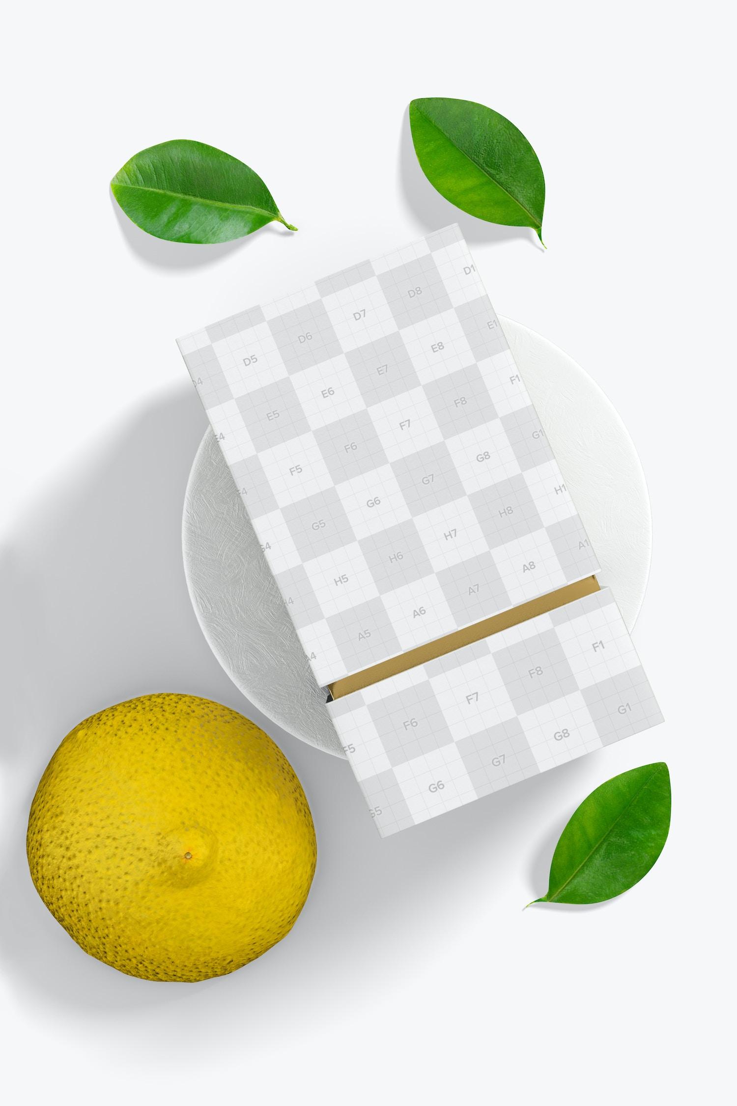 Luxury Sliding Box Mockup, on Surface 02