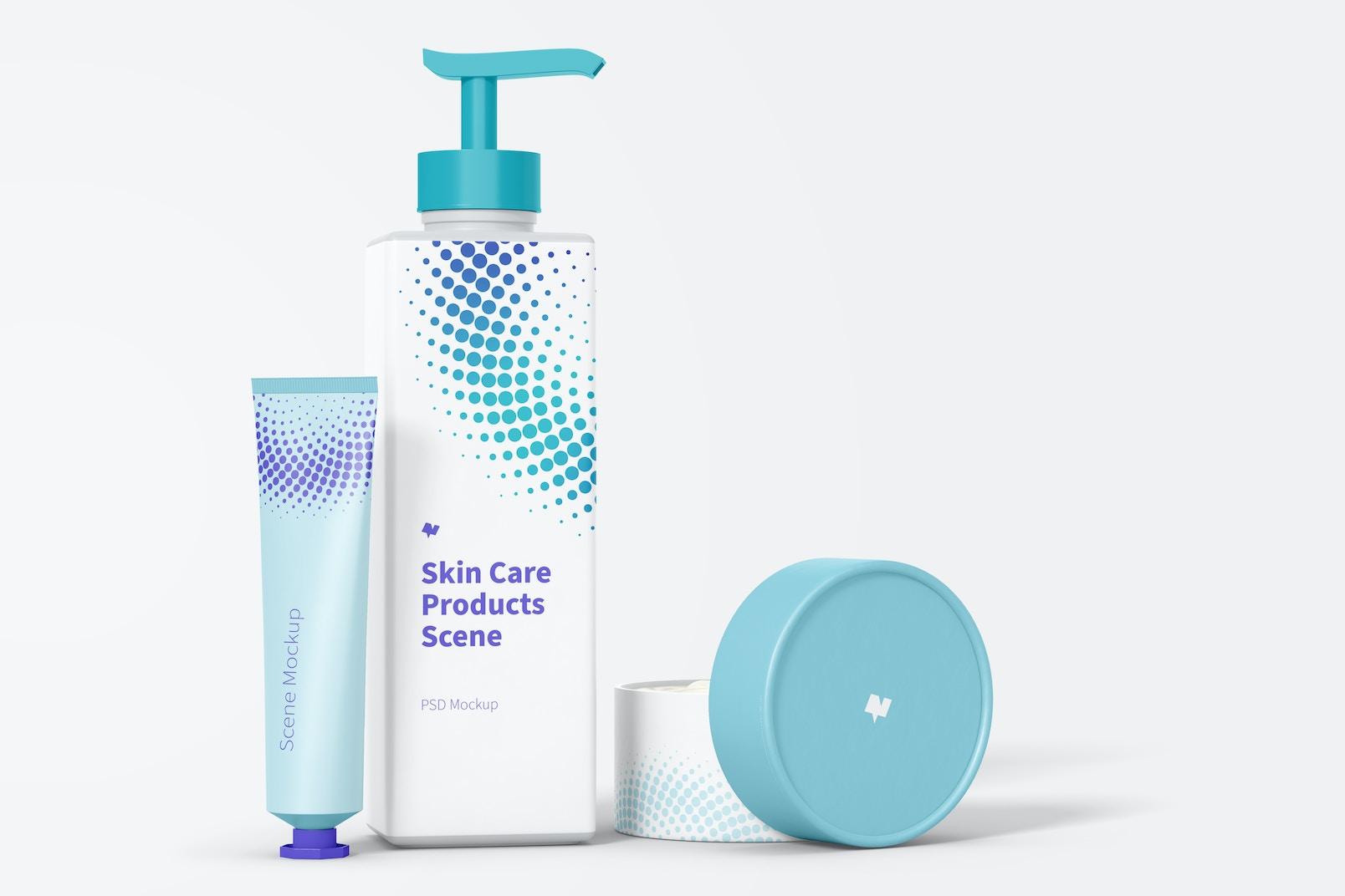Skin Care Products Scene Mockup 02