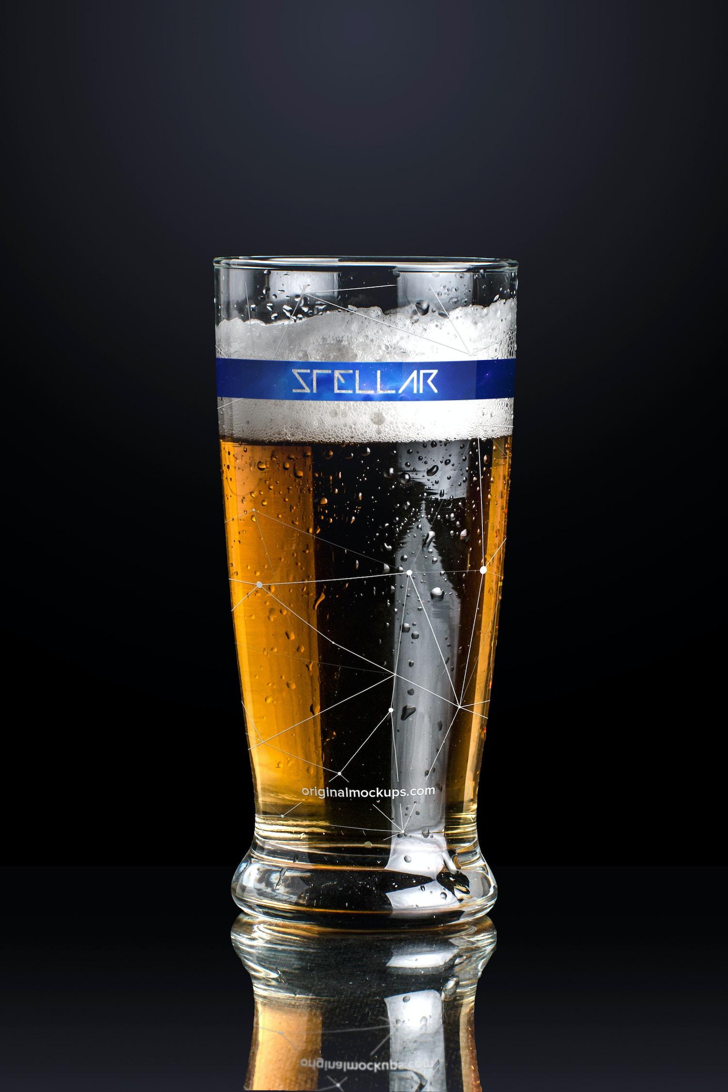Beer Glass Mockup 01 by Original Mockups on Original Mockups