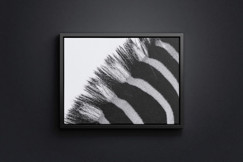 4:3 Landscape Canvas Mockup in Floater Frame, Front View