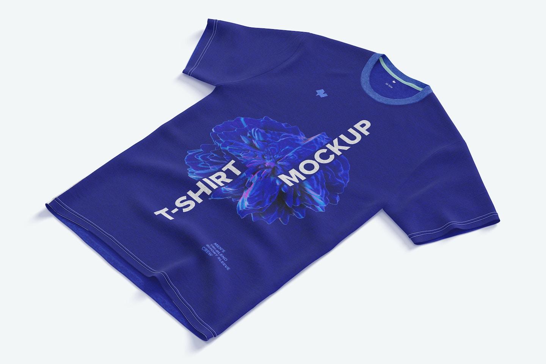 Men's Tri-Blend Short Sleeve Crew T-Shirt Mockup, Right View
