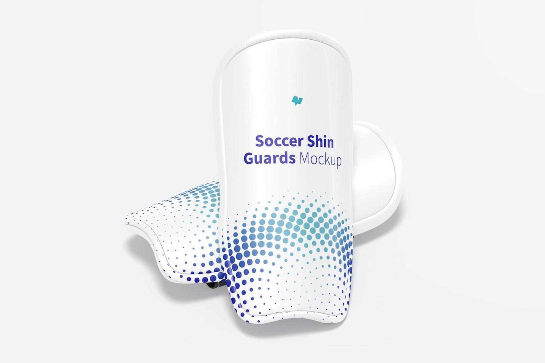 Soccer Shin Guards Mockup, Perspective View