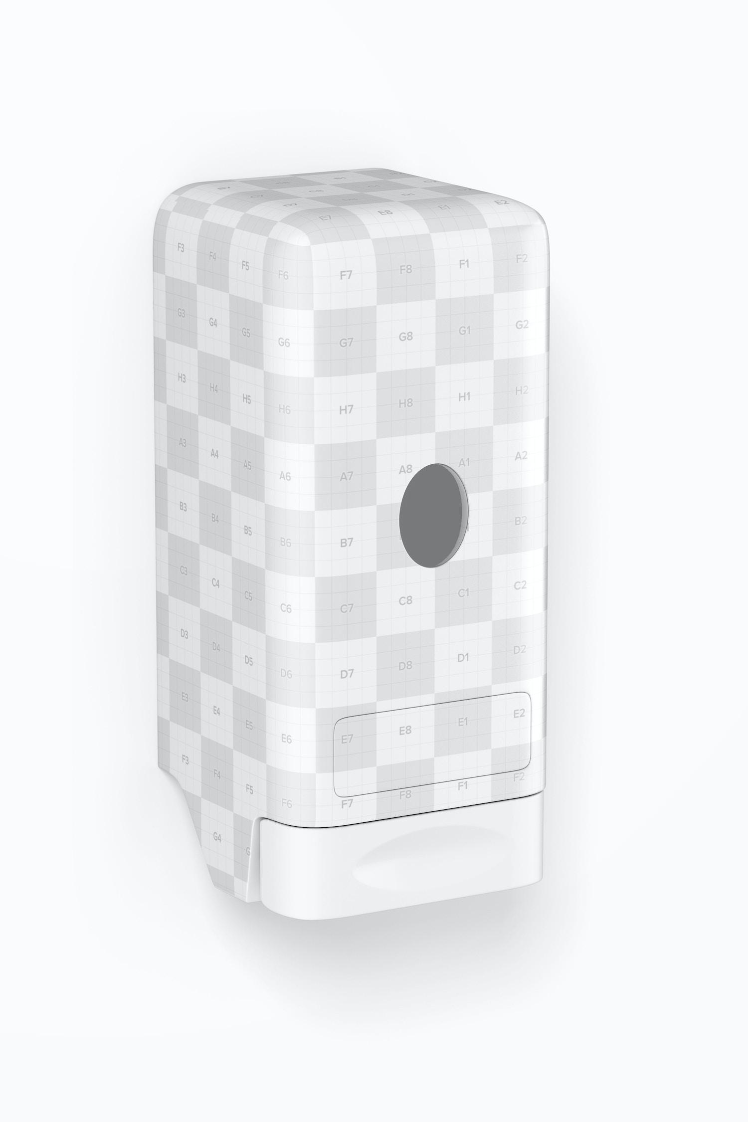 Liquid Soap Dispenser Mockup, Right View