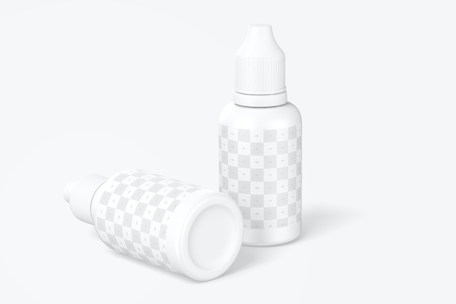 0.5 oz Micro Pigment Tattoo Bottles Mockup, Leaned and Dropped
