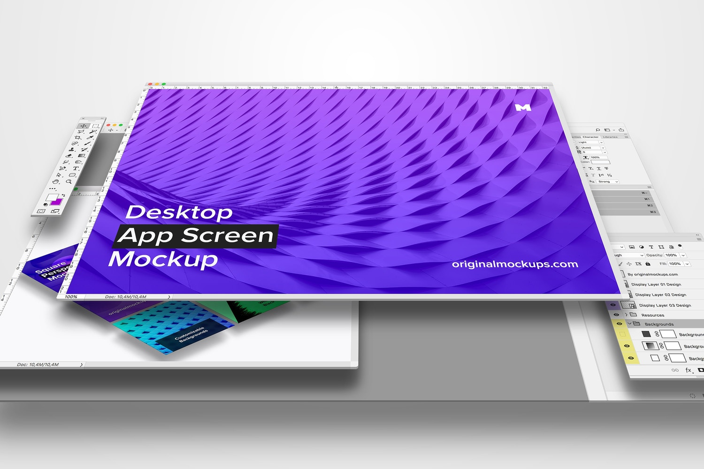 Desktop App Screen Mockup 01