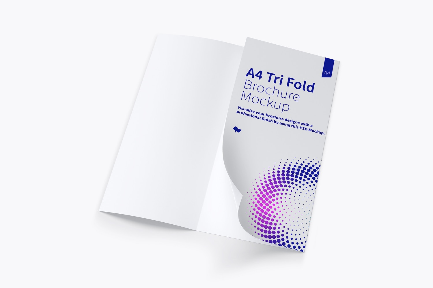 A4 Trifold Brochure Mockup 04 by Original Mockups on Original Mockups