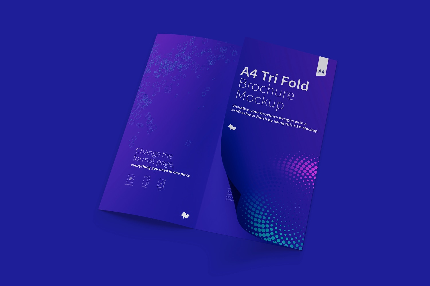 A4 Trifold Brochure Mockup 04 (4) by Original Mockups on Original Mockups