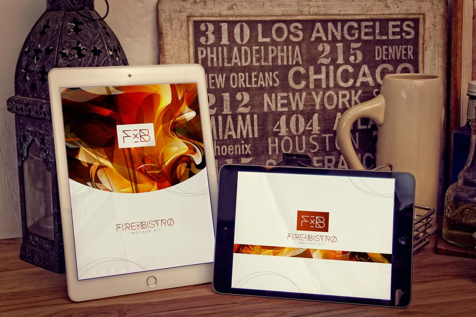 iPad Air 2, iPad Mini 3 Mockup