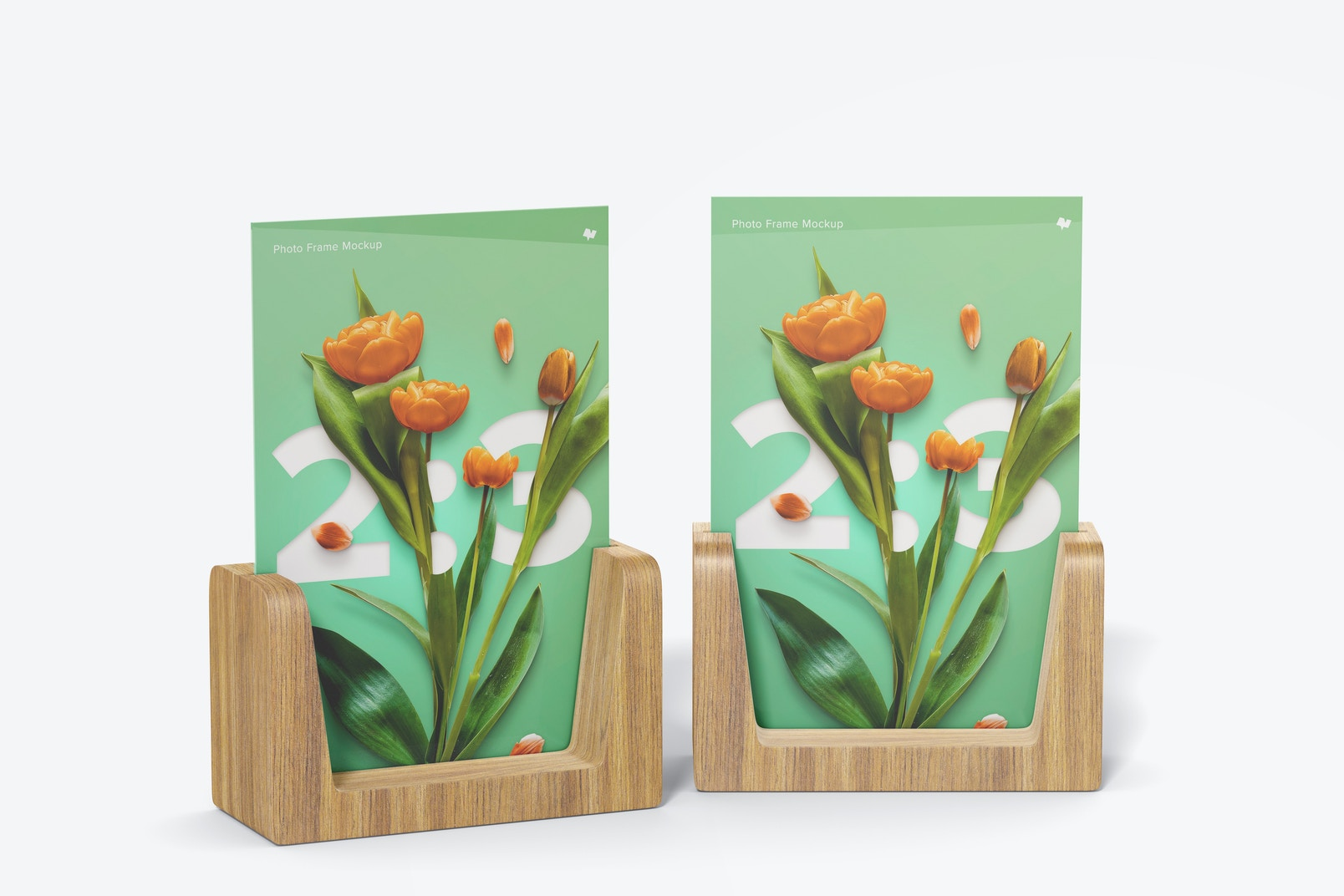 2:3 Photo Frames Mockup, Front View