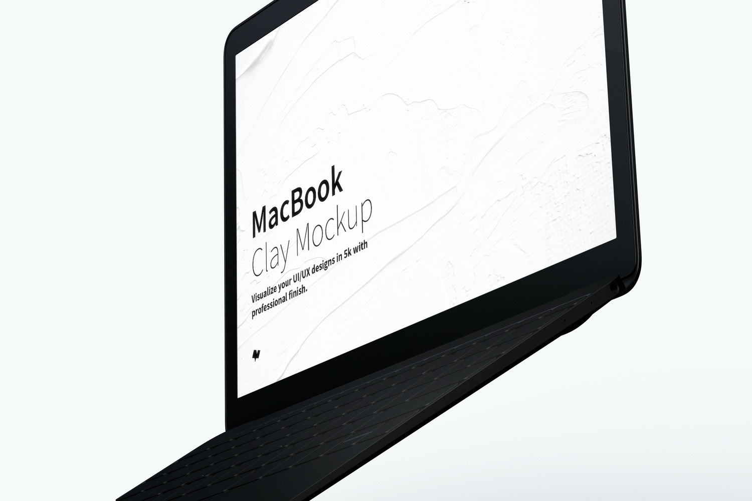 Clay MacBook Mockup, Floating Right View (3) by Original Mockups on Original Mockups