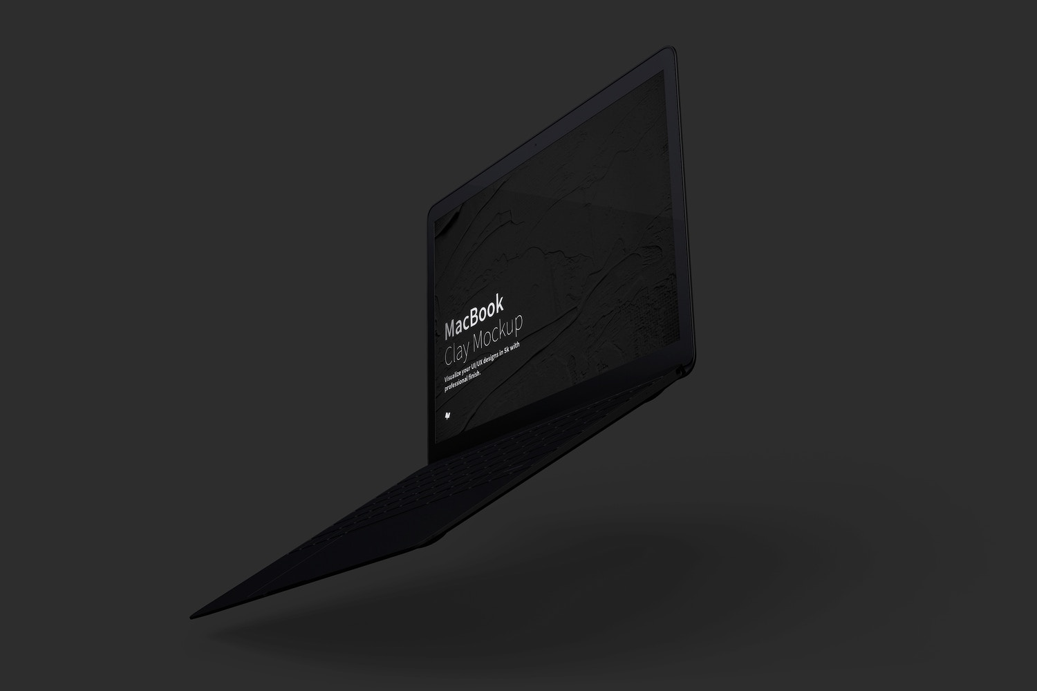 Clay MacBook Mockup, Floating Right View (5) by Original Mockups on Original Mockups