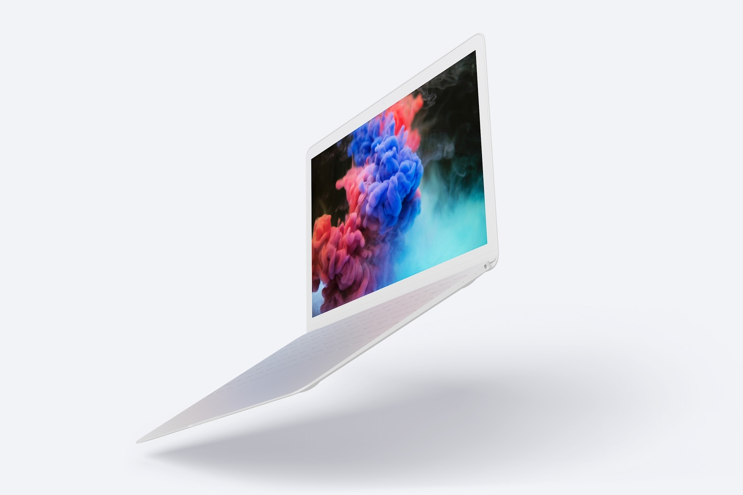 Clay MacBook Mockup, Floating Right View (4) by Original Mockups on Original Mockups